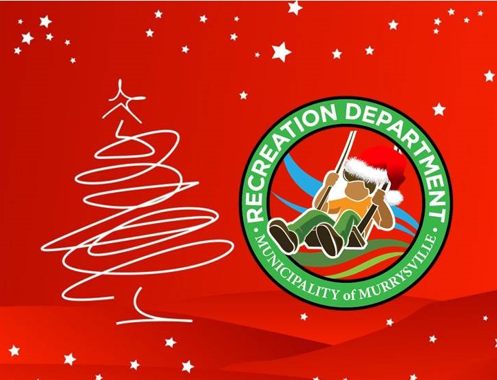 Murrysville Recreation Department Logo in Christmas theme