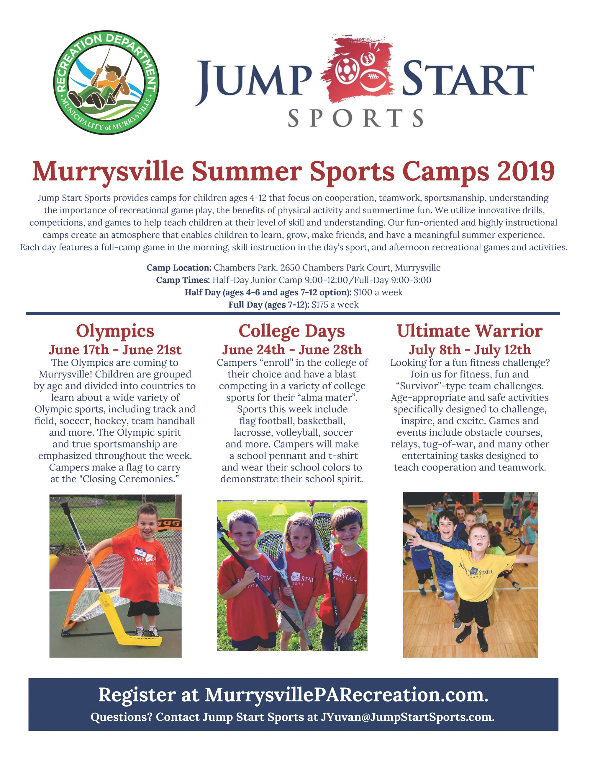 Murrysville Summer Camp Flyer