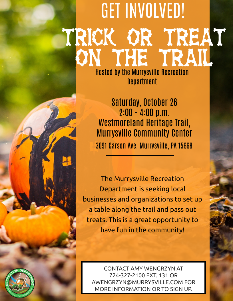 Trick or Treat on the Trail Business Flyer