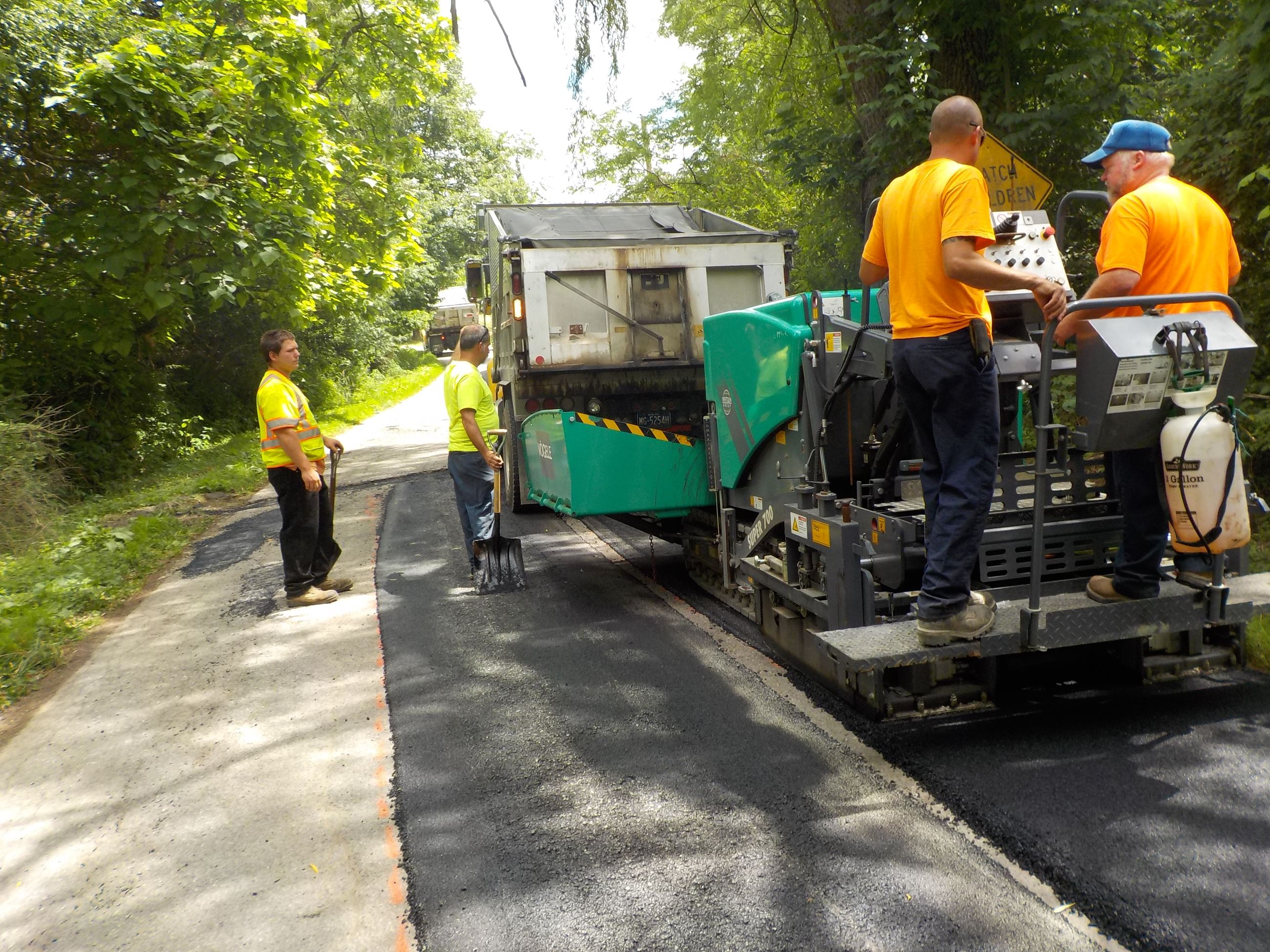 Patching with paver
