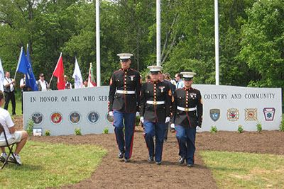 Marines at Veterans Memorial