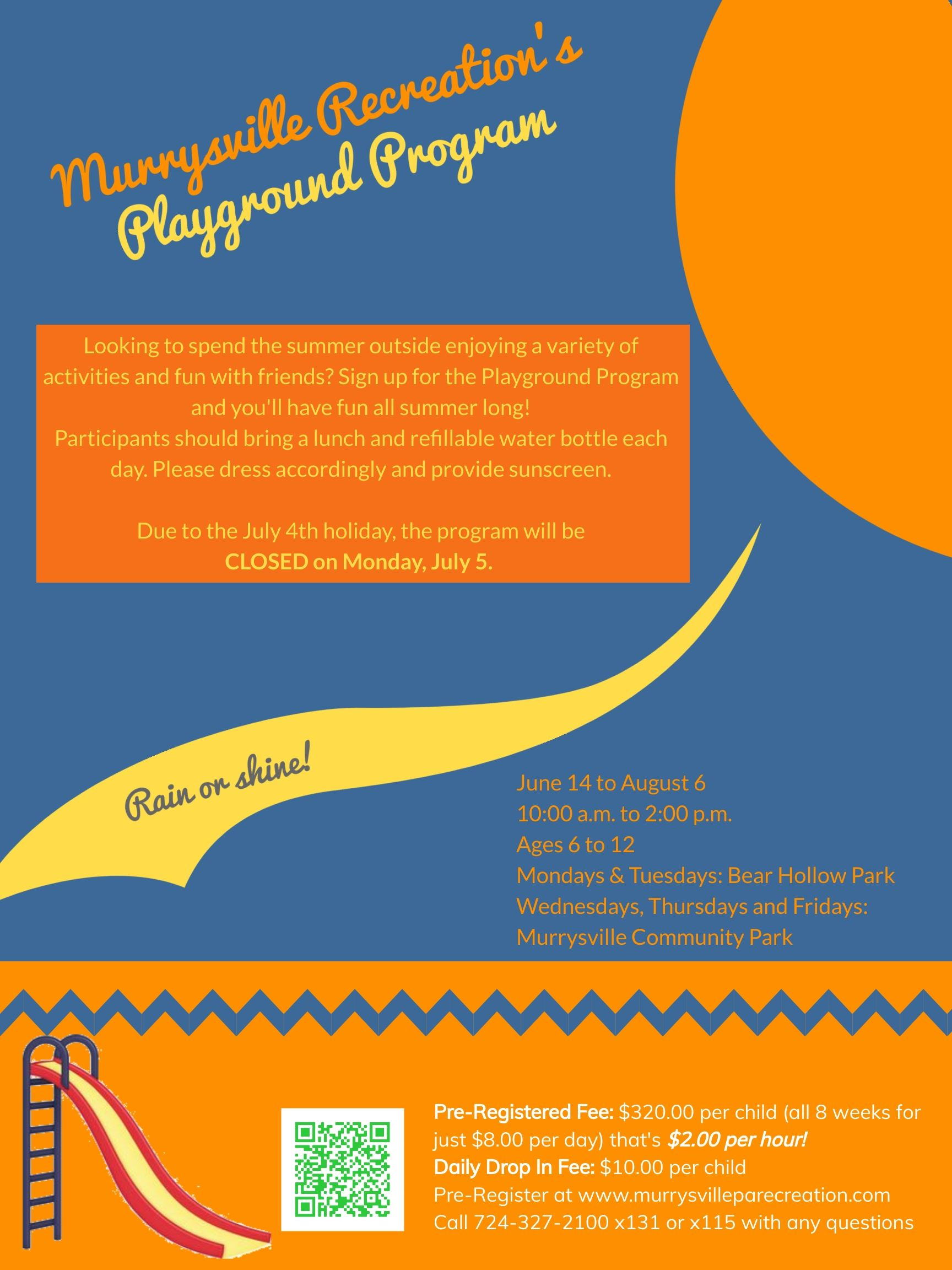 Playground Program Flyer 2021