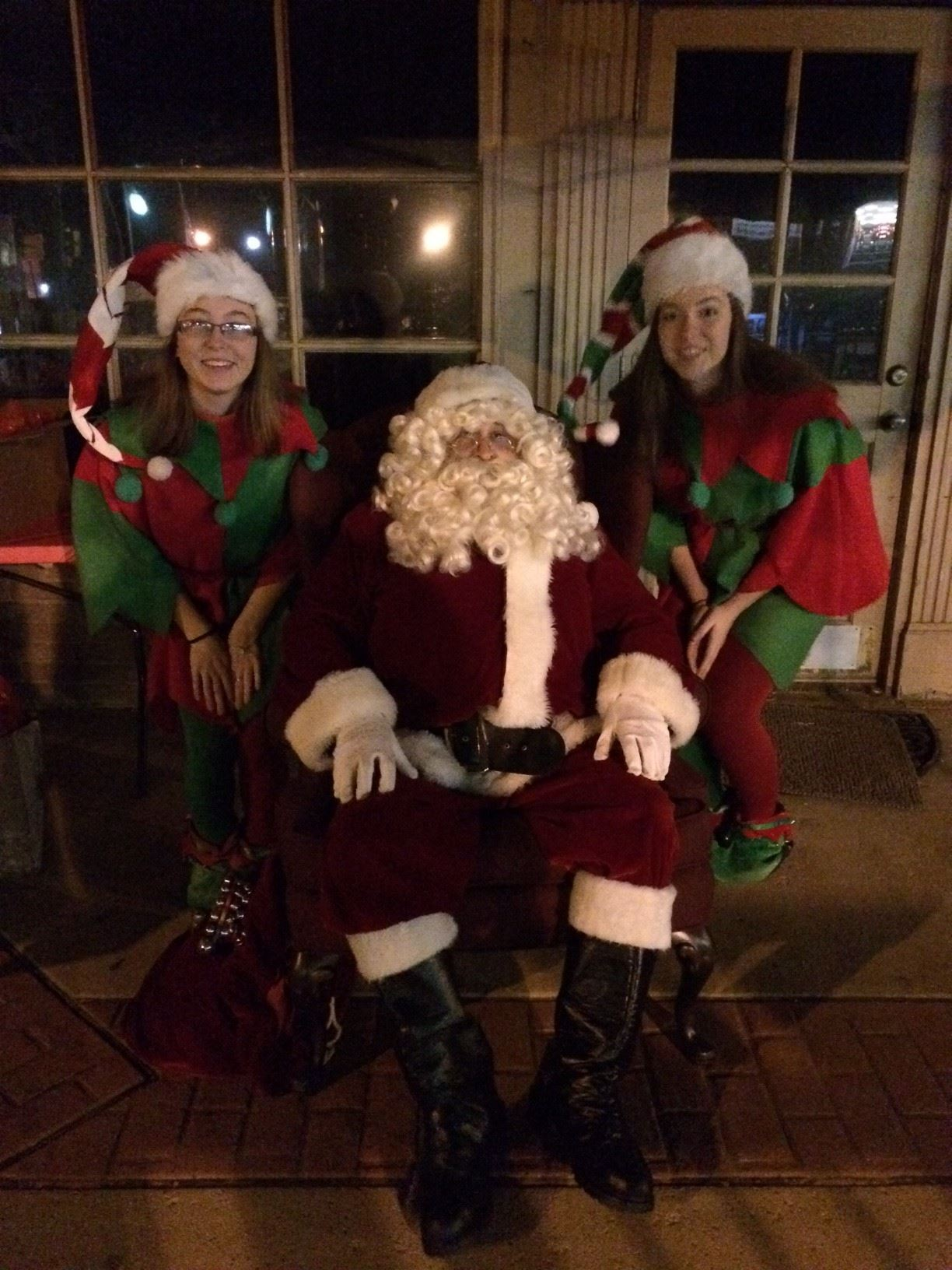Santa & his Elves at Night of Lights